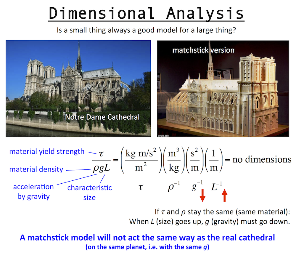Dimensional analysis example
